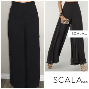 Scala wide leg special occasion pants. NWT